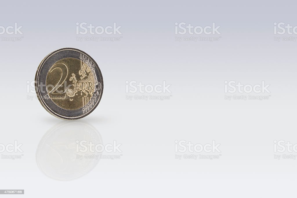 Two Euro stock photo