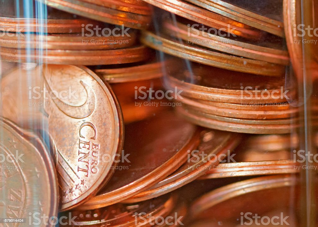 Two Euro-cent coins stock photo