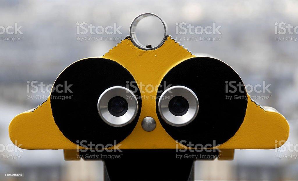 Two eyes stock photo