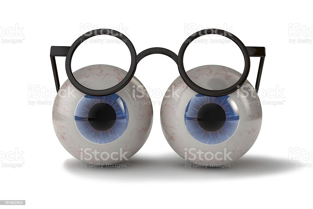 Two eyes with glasses royalty-free stock photo