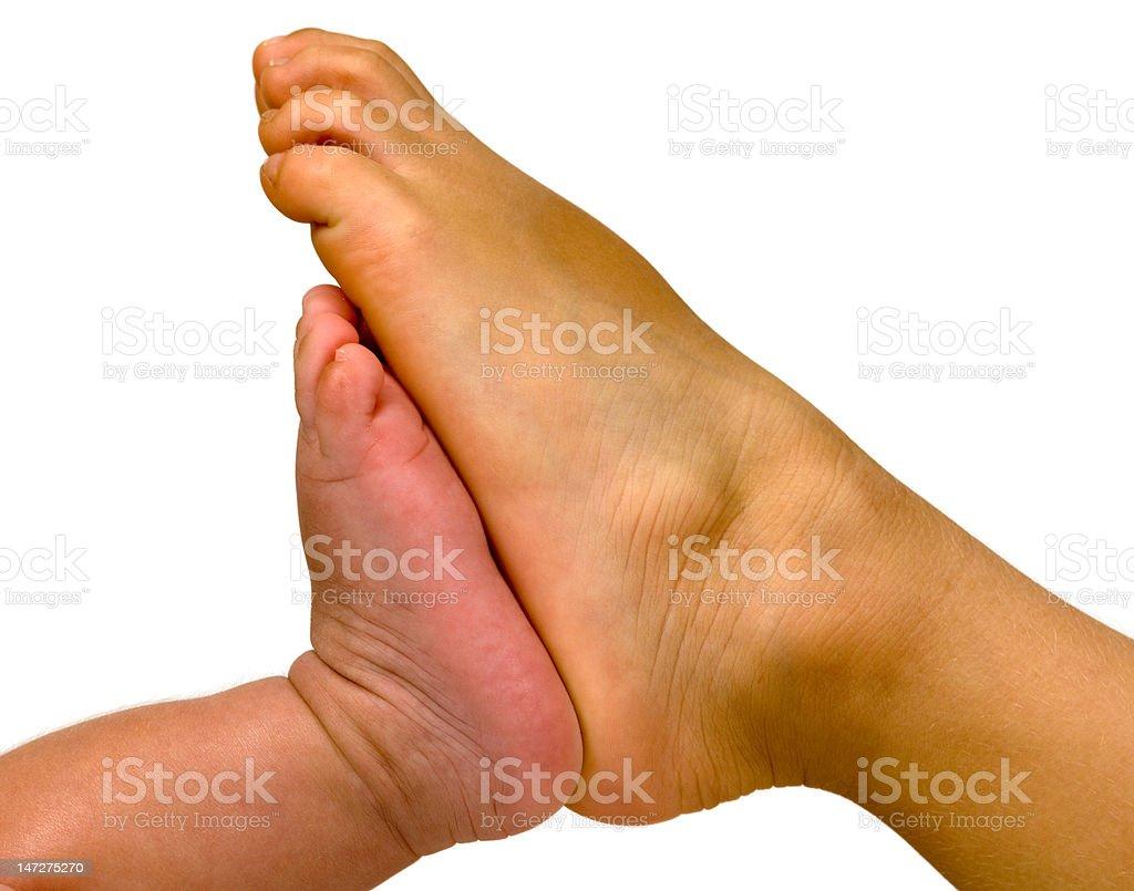 Two feet stock photo