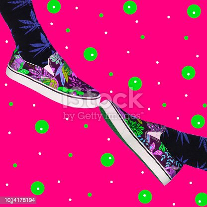 1014178170istockphoto Two feet shoes touch each other. 1014178194