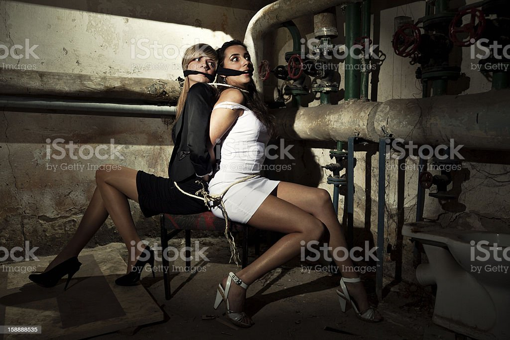 Two Female Hostages stock photo