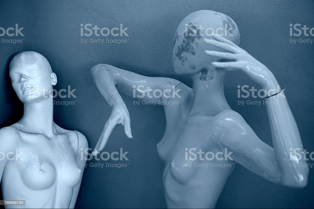 Two female mannequins royalty-free stock photo