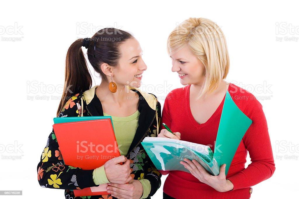 두 여성 학생이 도서는 royalty-free 스톡 사진