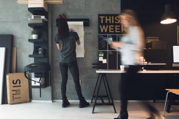 兩位女性網頁設計師 - 小型辦公室 個照片及圖片檔