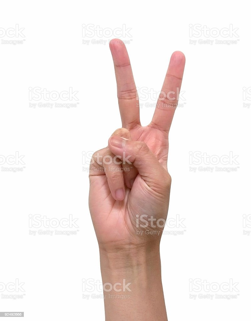 Two Fingers royalty-free stock photo