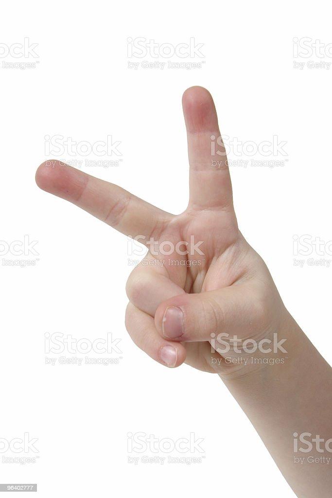 手指 2 本 - 1人のロイヤリティフリーストックフォト