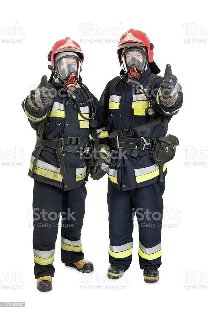 two firemen royalty-free stock photo
