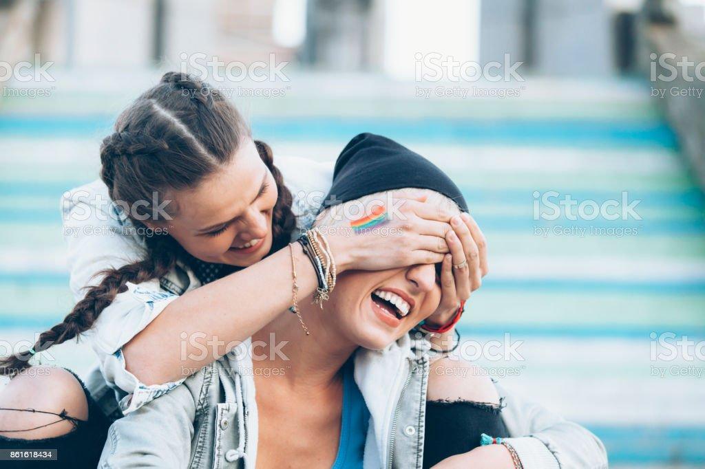 Deux amis s'amuser - Photo
