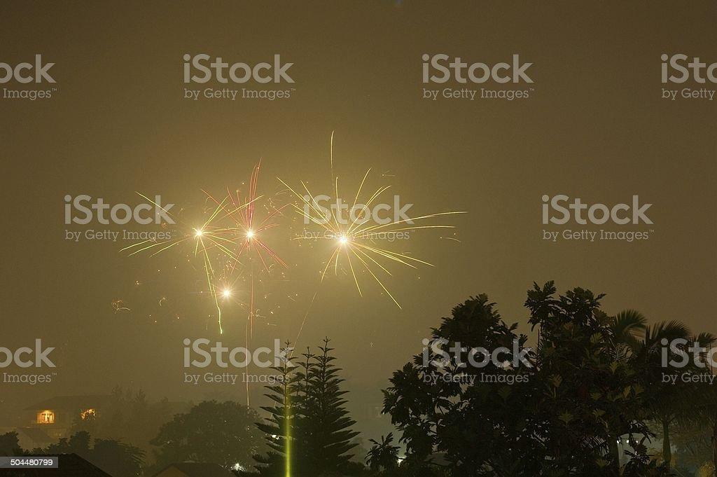 Two Fireworks stock photo