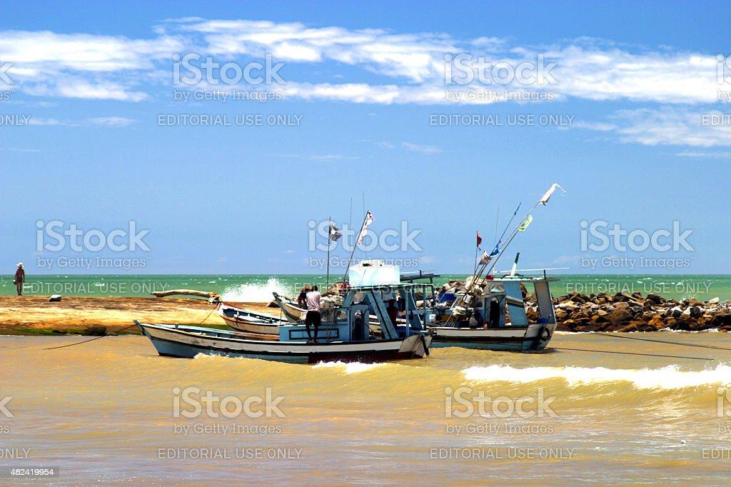 Dois Fisher barcos no espírito Santos'Estado, Brasil - foto de acervo