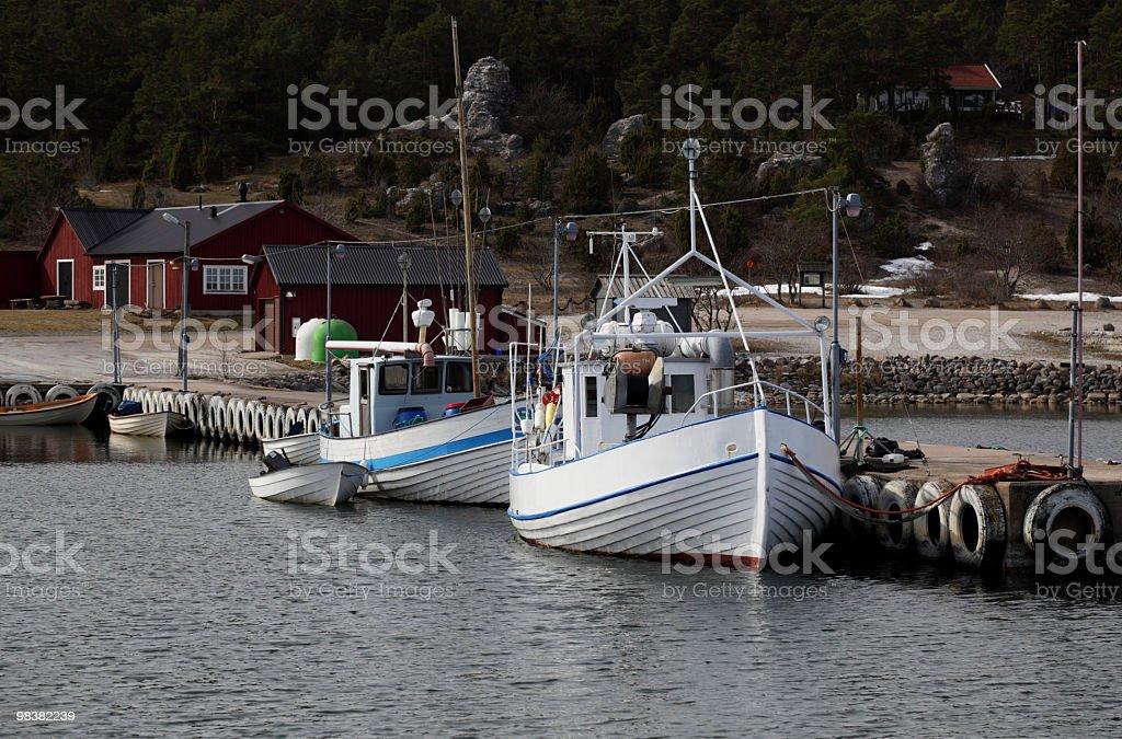 Two fishing boats royalty-free stock photo