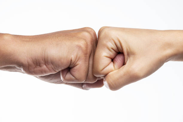 Two Fists stock photo