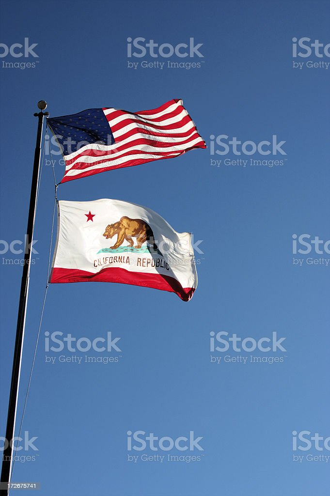 Two flags stock photo