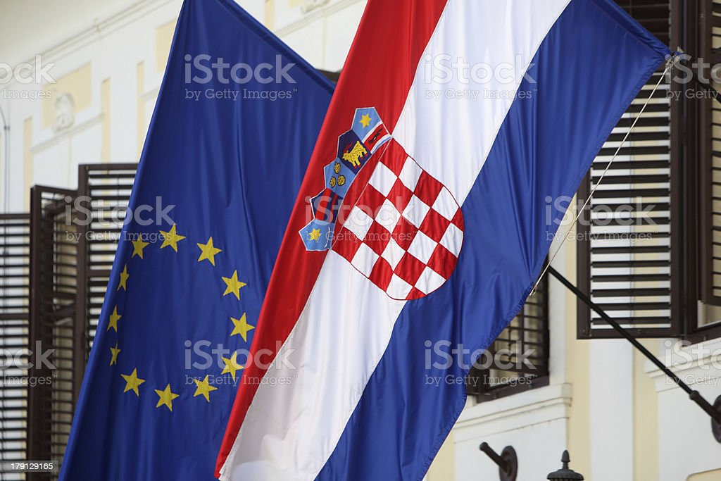 Two Flags royalty-free stock photo