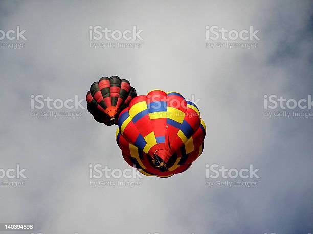 Two Floating Balloons