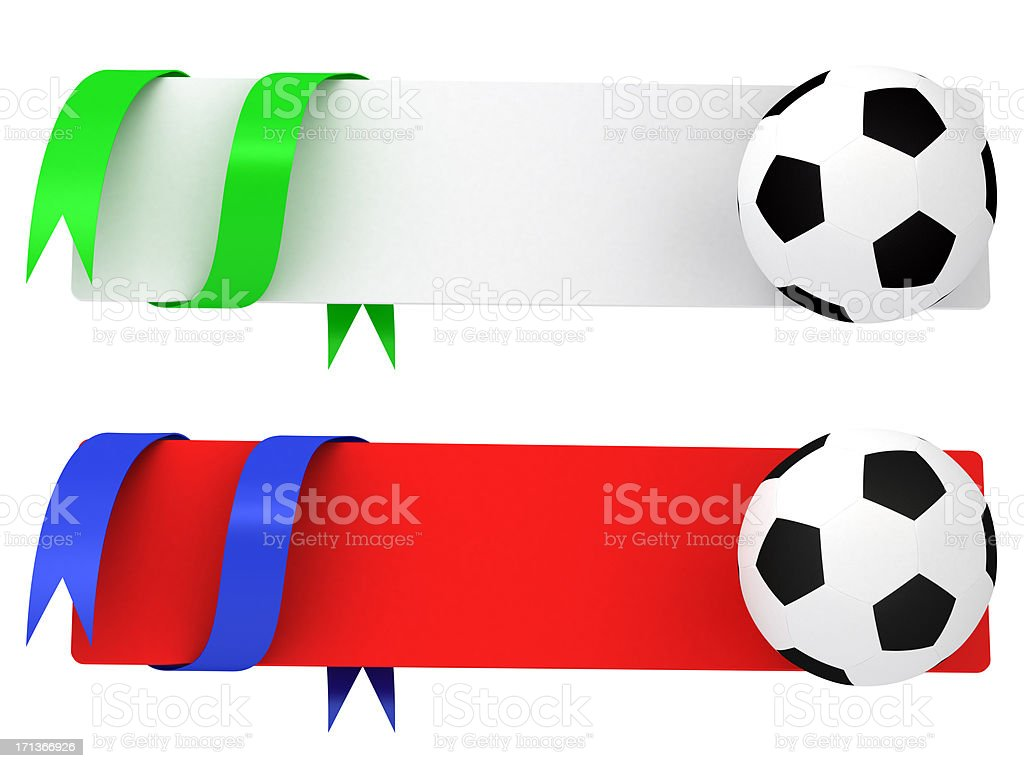 Two football banner royalty-free stock photo