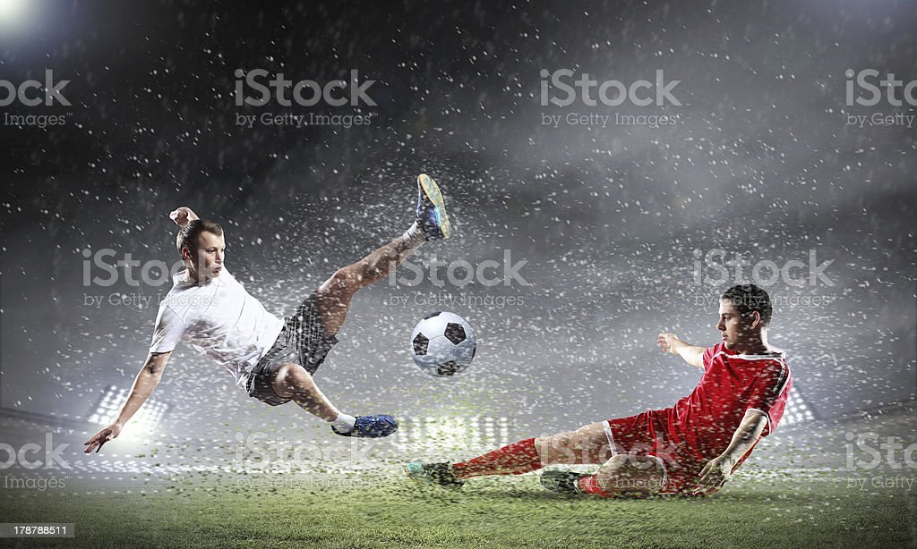 Two football player stock photo