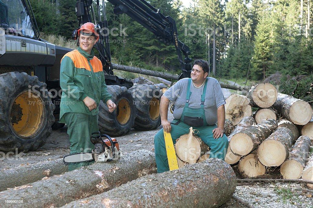 Deux ouvriers forestiers - Photo