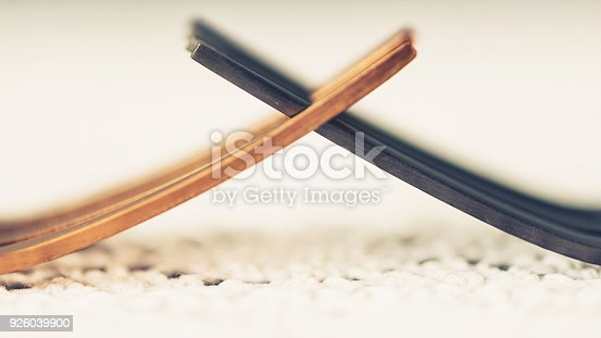 istock Two forks interlocked to portray the concept of conflict 926039900