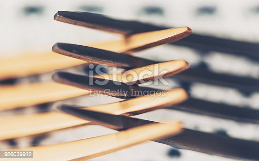 istock Two forks interlocked to portray the concept of conflict 926039912