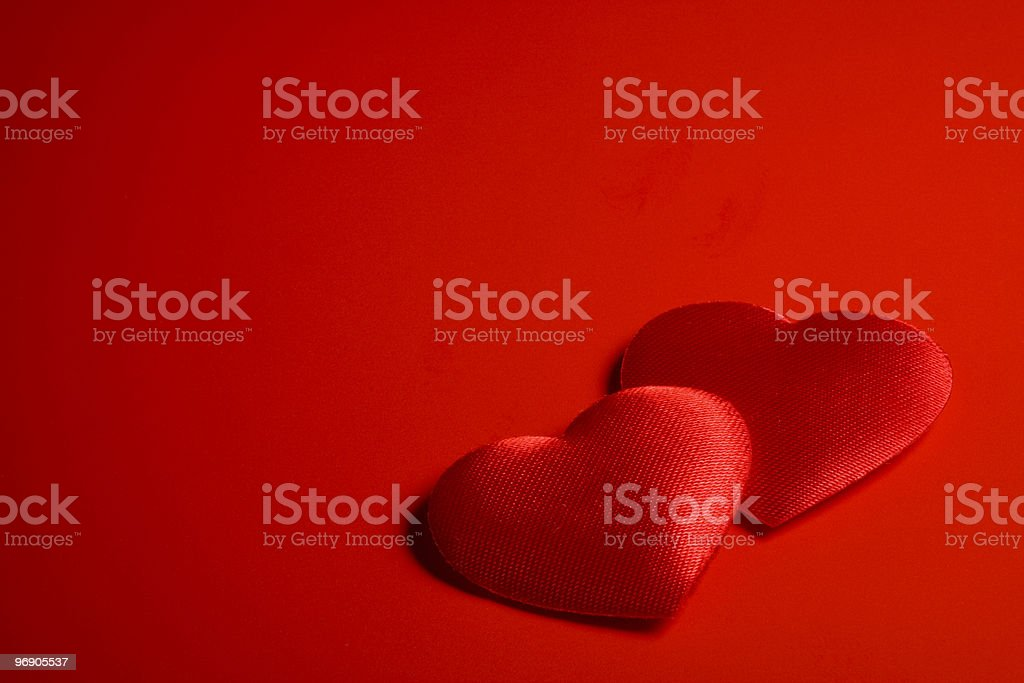 Two form's hearts royalty-free stock photo