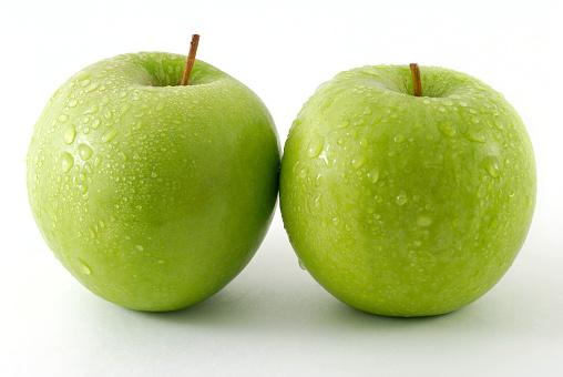 Two fresh apples