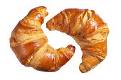 Two fresh croissants