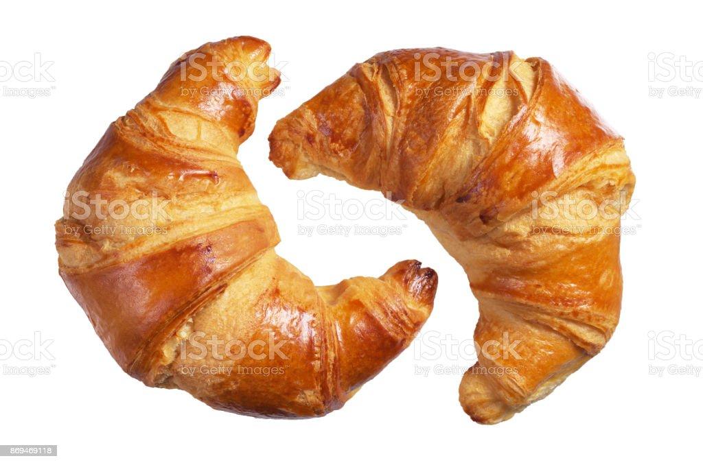 Two fresh croissants - foto stock