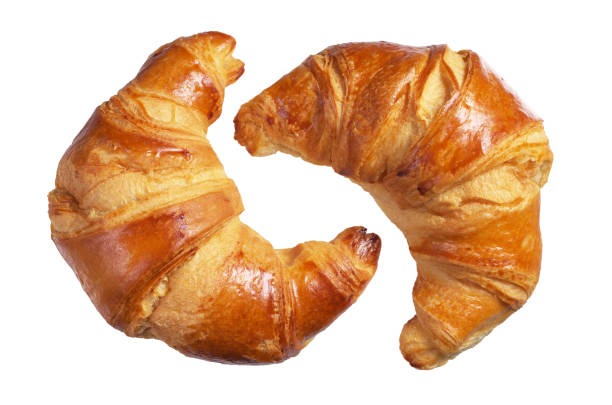 Two fresh croissants - foto stock