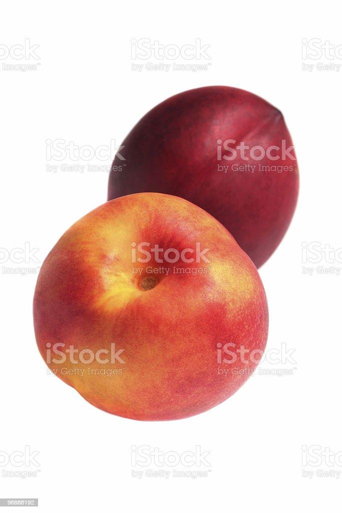 Zwei frische Pfirsiche. Lizenzfreies stock-foto