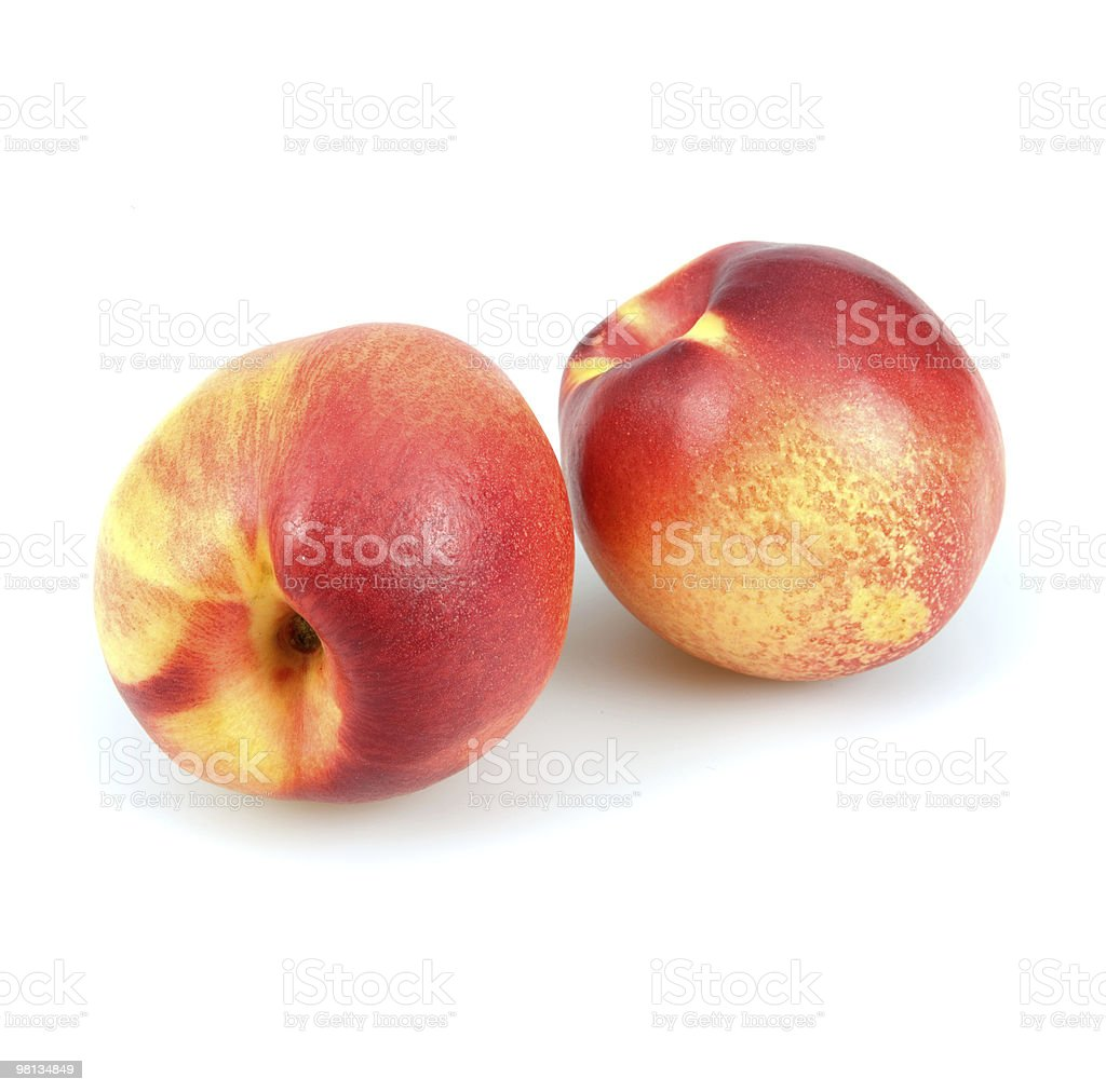 Two Fresh Peaches royalty-free stock photo