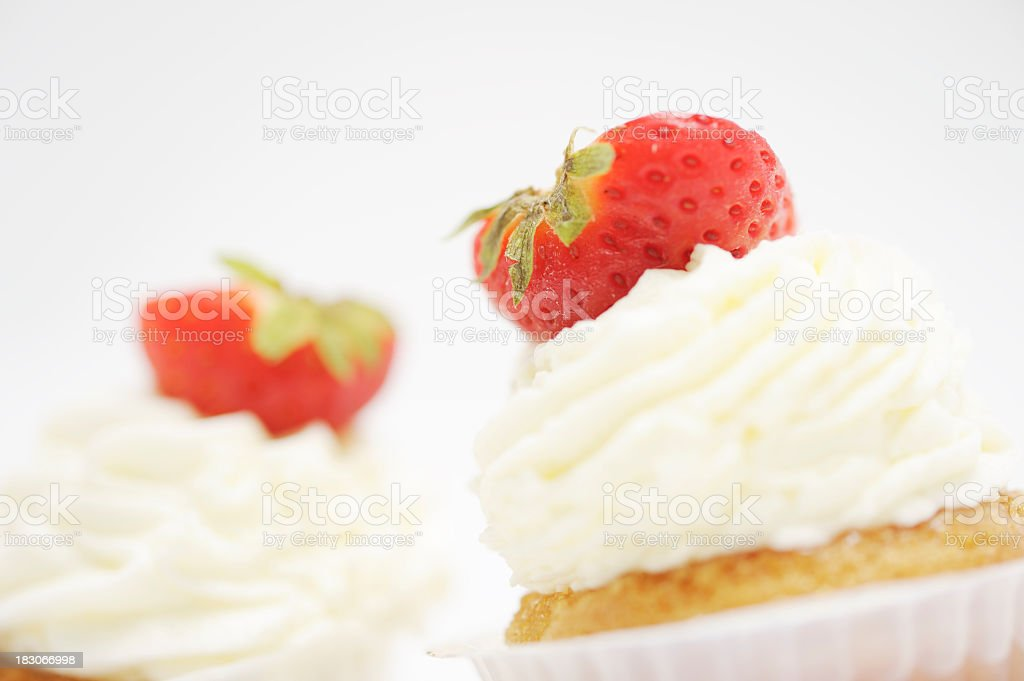 Two Fresh Rum Babas Close-up royalty-free stock photo