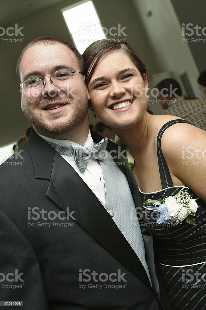 Two Friends at a Wedding royalty-free stock photo