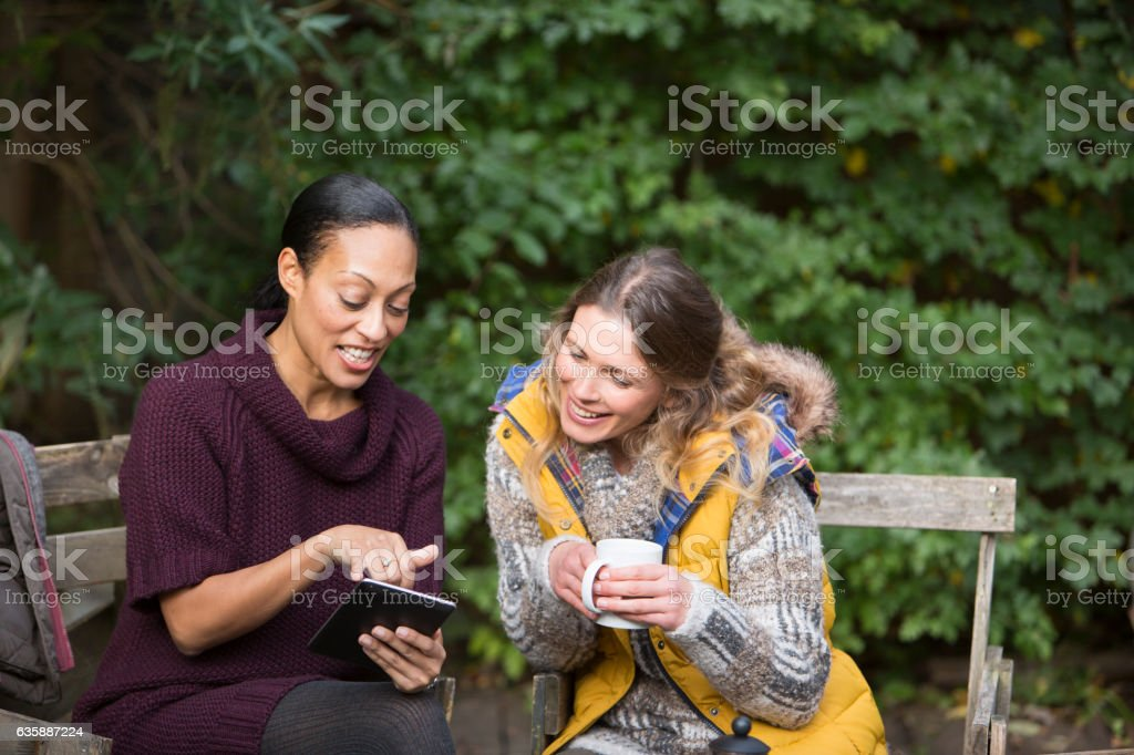 Two Friends Gardening and Lifestyle stock photo