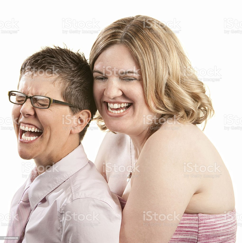 Two Friends Laughing royalty-free stock photo