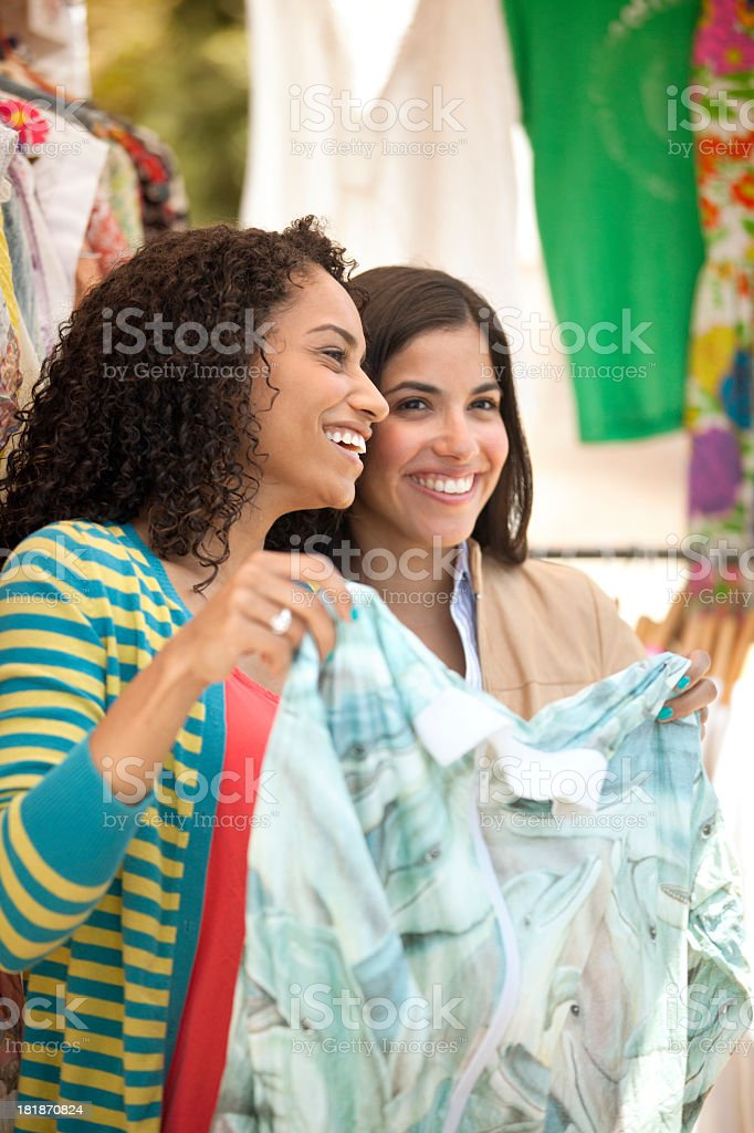 Two Friends Shopping royalty-free stock photo