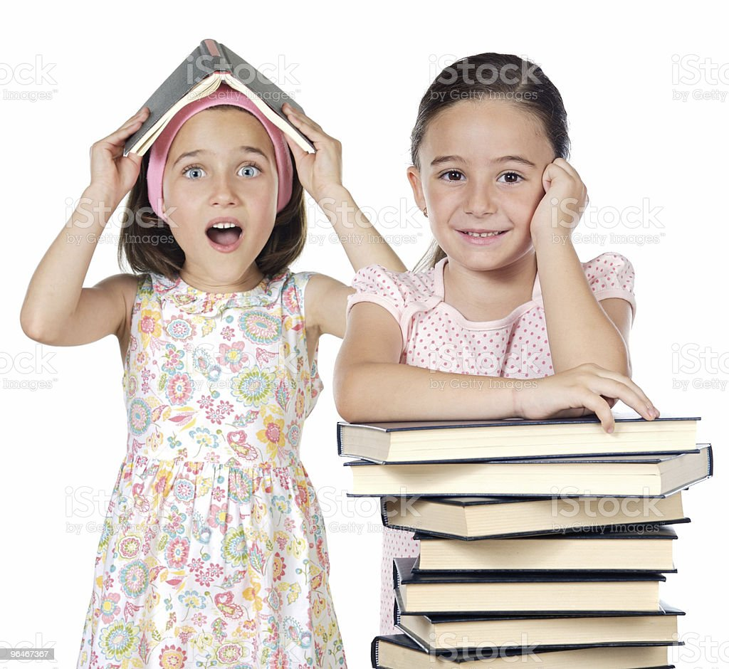 Two friends students royalty-free stock photo