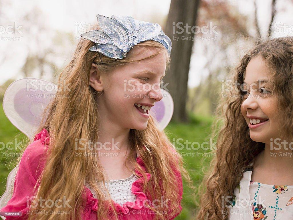 Two friends talking 免版稅 stock photo