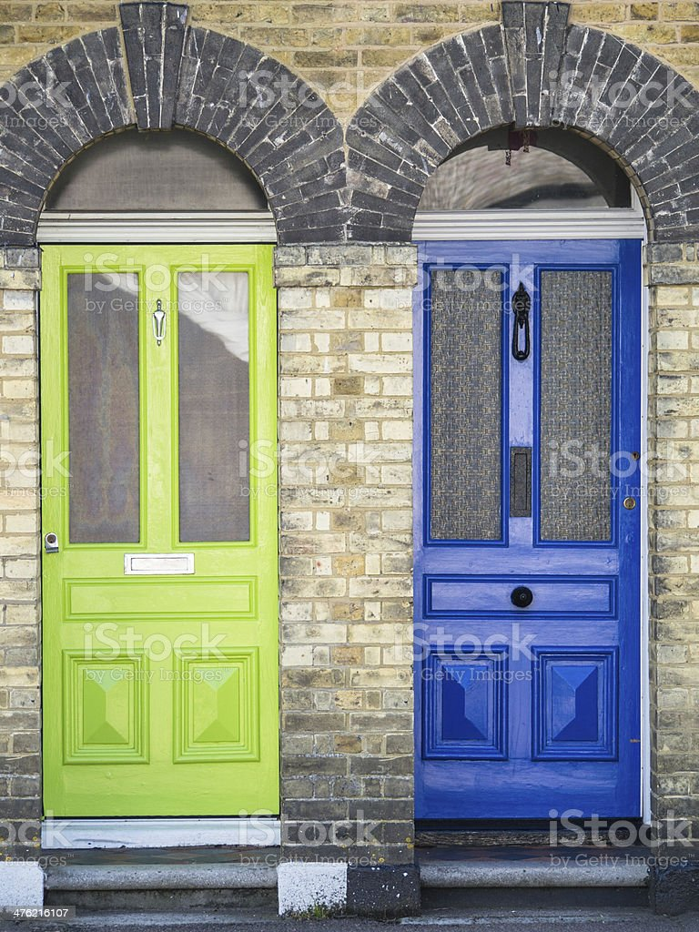 Two front doors royalty-free stock photo