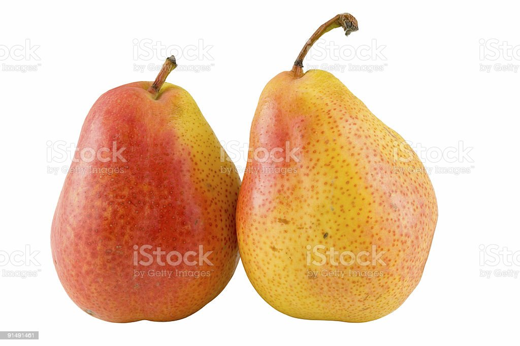 two full pears royalty-free stock photo