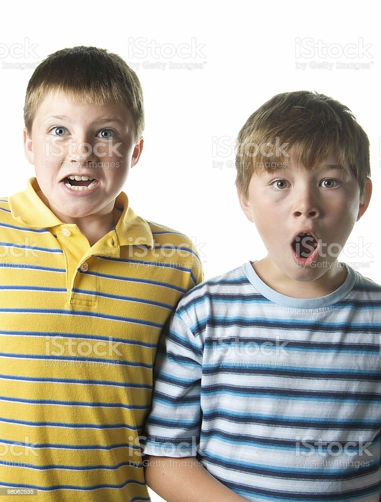 Two Funny Boys royalty-free stock photo