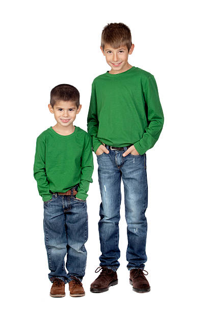 Two funny brothers stock photo