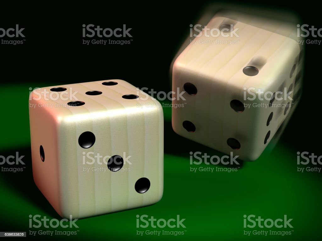 Two gaming dice stock photo