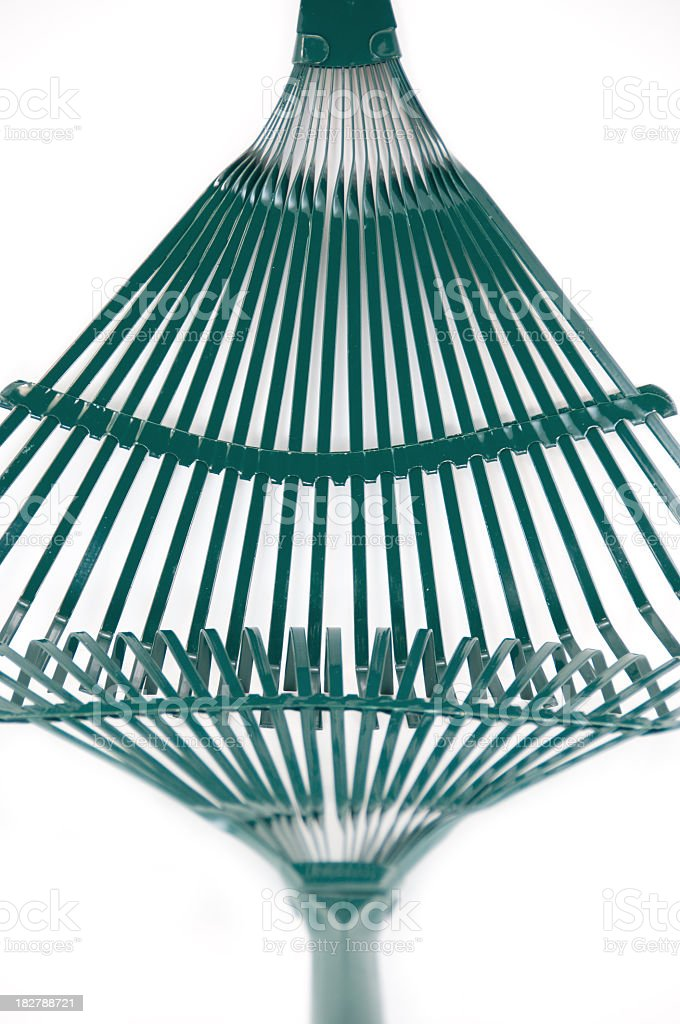 Two Garden Rake Heads stock photo