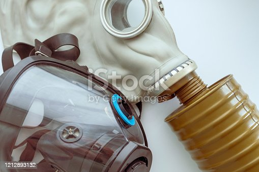 istock two gas masks modern and old type 1212893132