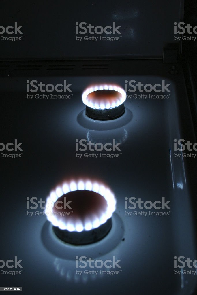 Two gas stoves royalty-free stock photo