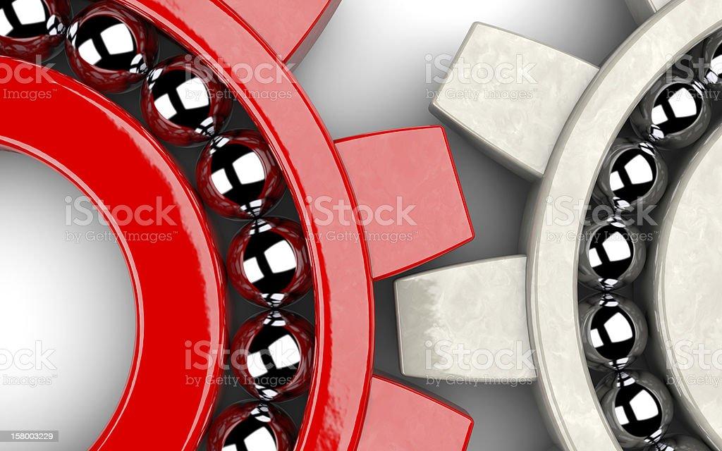 Zwei Ausrüstung bearings, die den team-Arbeit-Konzept – Foto