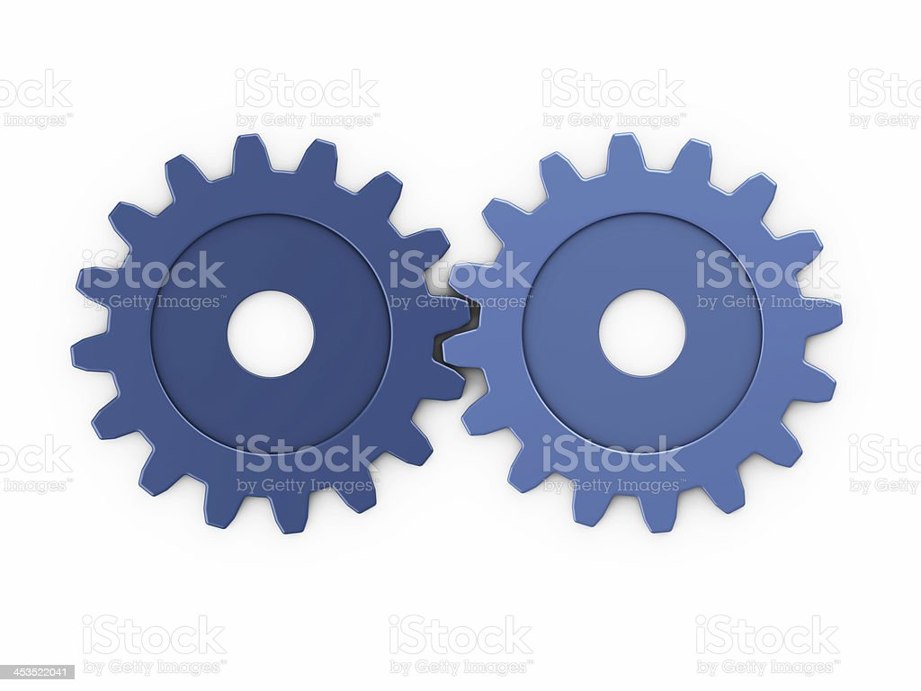 two gear to place concepts stock photo